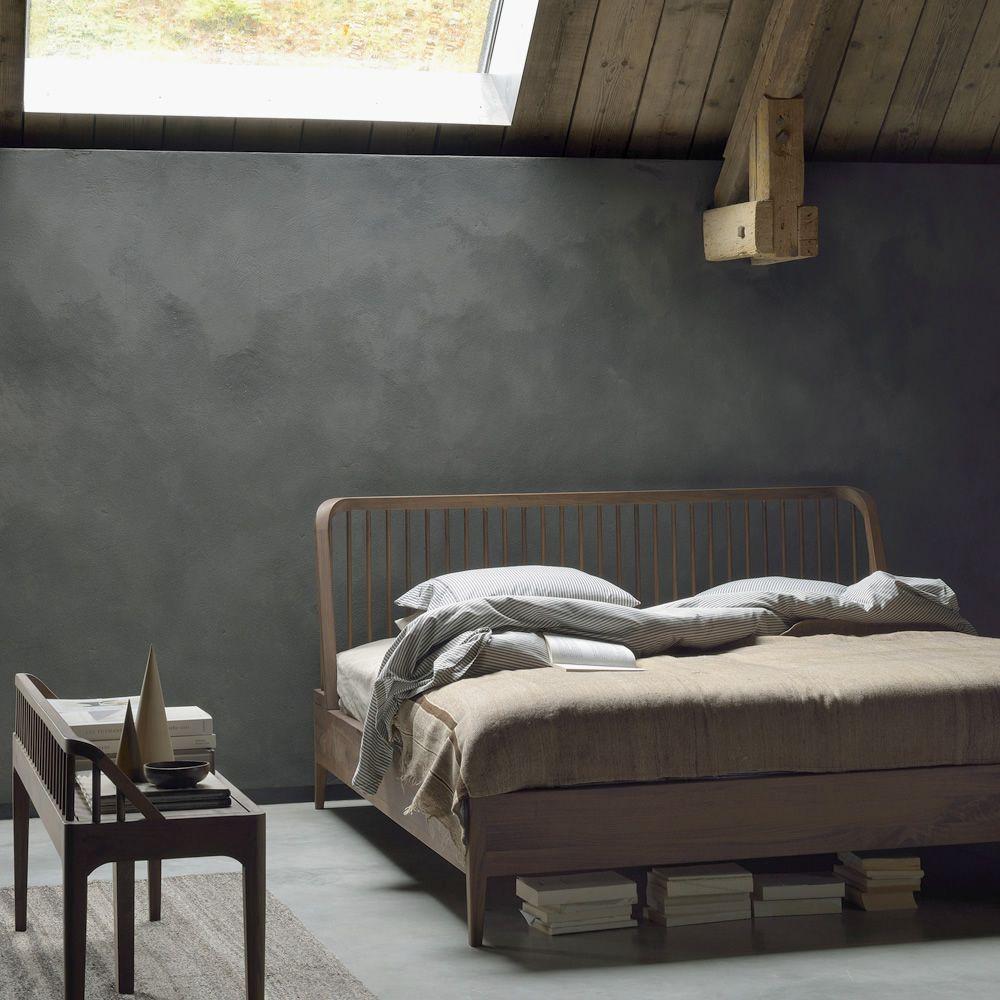 Spindle letto matrimoniale ethnicraft con struttura in legno diverse misure disponibili - Struttura letto matrimoniale ...