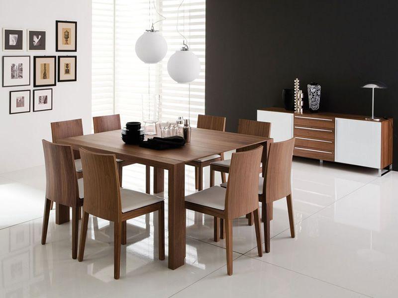 Fashion q tavolo domitalia in legno piano vetro o legno for Tavolo 140x140