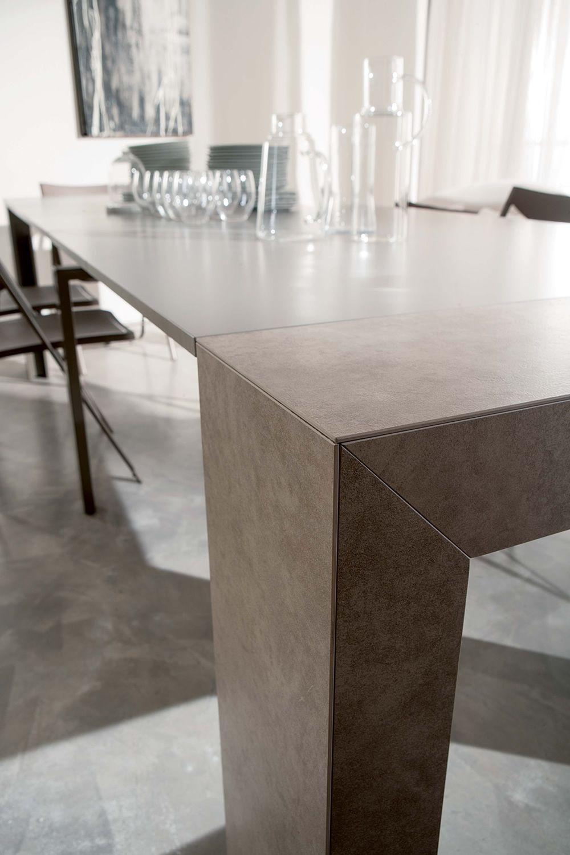 glass konsole aus mdf 100 x 43 cm verl ngerbar sediarreda. Black Bedroom Furniture Sets. Home Design Ideas