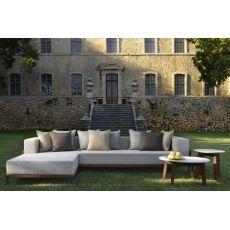 Cleo C - Divano con chaise longue, sfoderabile, per giardino