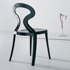 Anita - Stacking design chair made of technopolymer, available in different colours