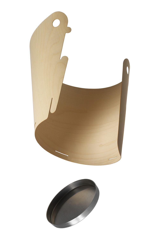 Dove corbeille en bois et aluminium sediarreda for Corbeille en bois flotte