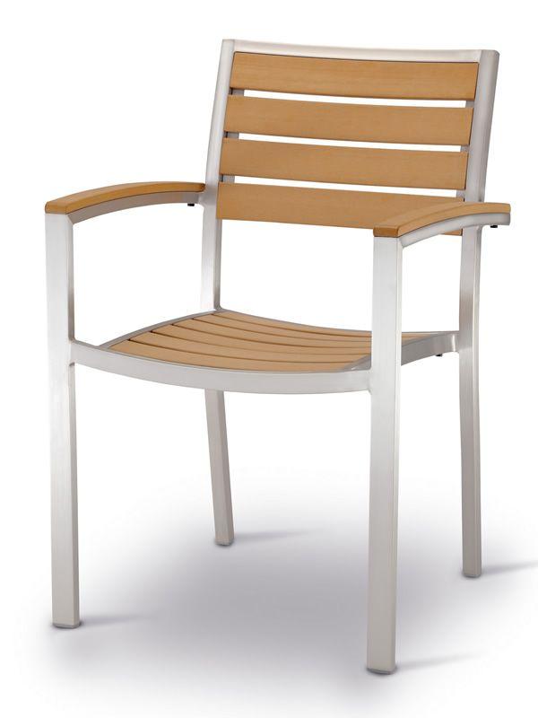 Tt937 para bare y restaurantes silla con apoyabrazos de for Bancos de aluminio para jardin