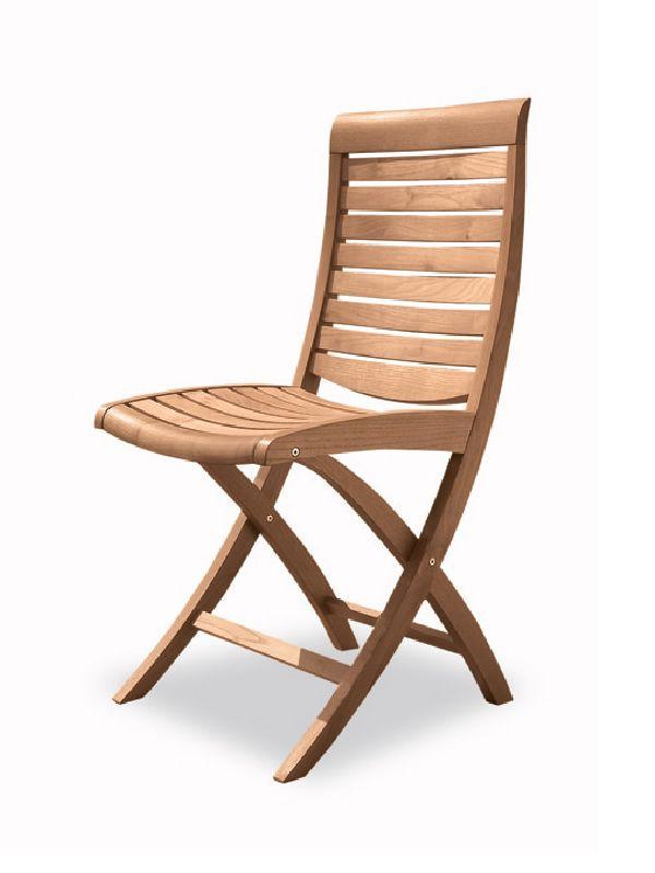 Mirage f chaise pliante pour jardin en bois robinier - Chaise exterieur bois ...