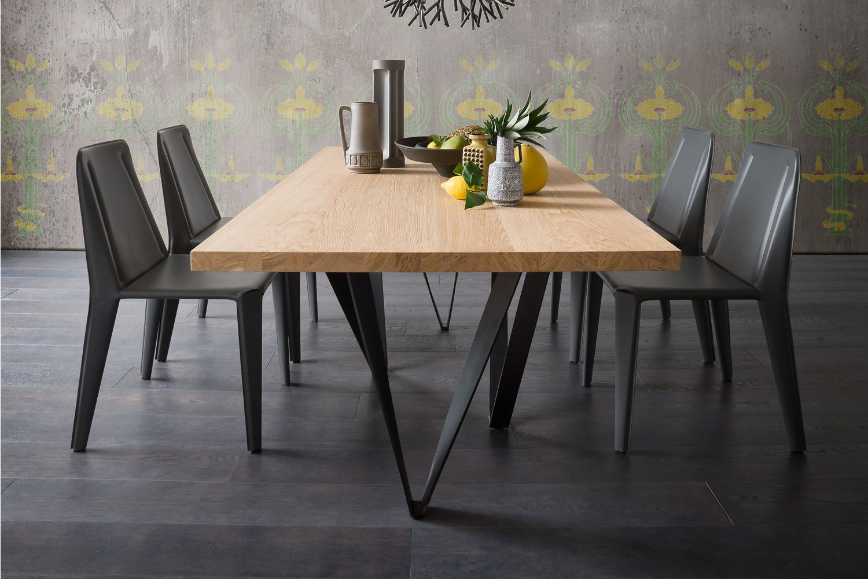 Apollodoro tavolo di design fisso 100x200 cm con for Tavolo design outlet
