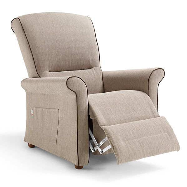 Fly relax fauteuil global relax lectrique en tissu en for Poltrone reclinabili poltrone e sofa