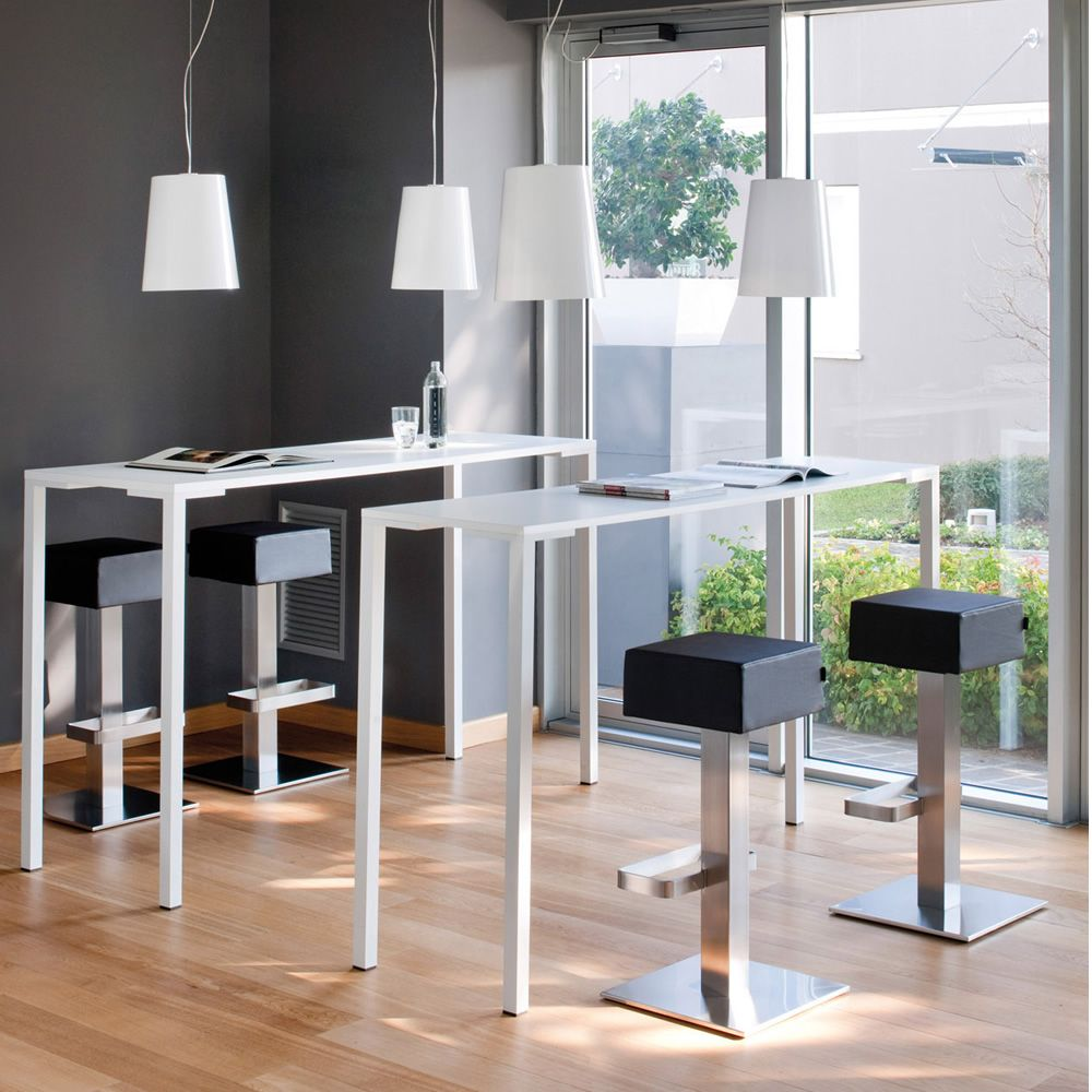 Togo H - Tavolo alto per bar o ristorante, in alluminio, piano in ...