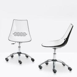 cb623 jam stuhl connubia calligaris aus metall und technopolymer drehbar und. Black Bedroom Furniture Sets. Home Design Ideas