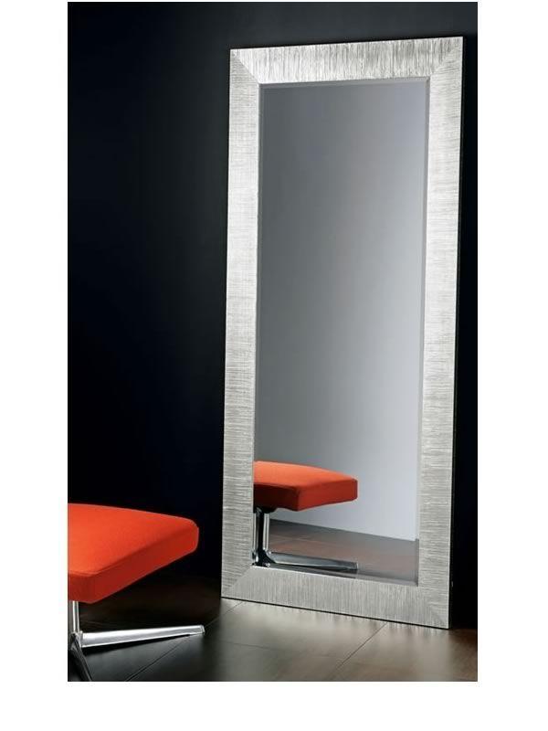 Flat s espejo con marco de madera decoraci n con hoja de for Espejo rectangular con marco de madera