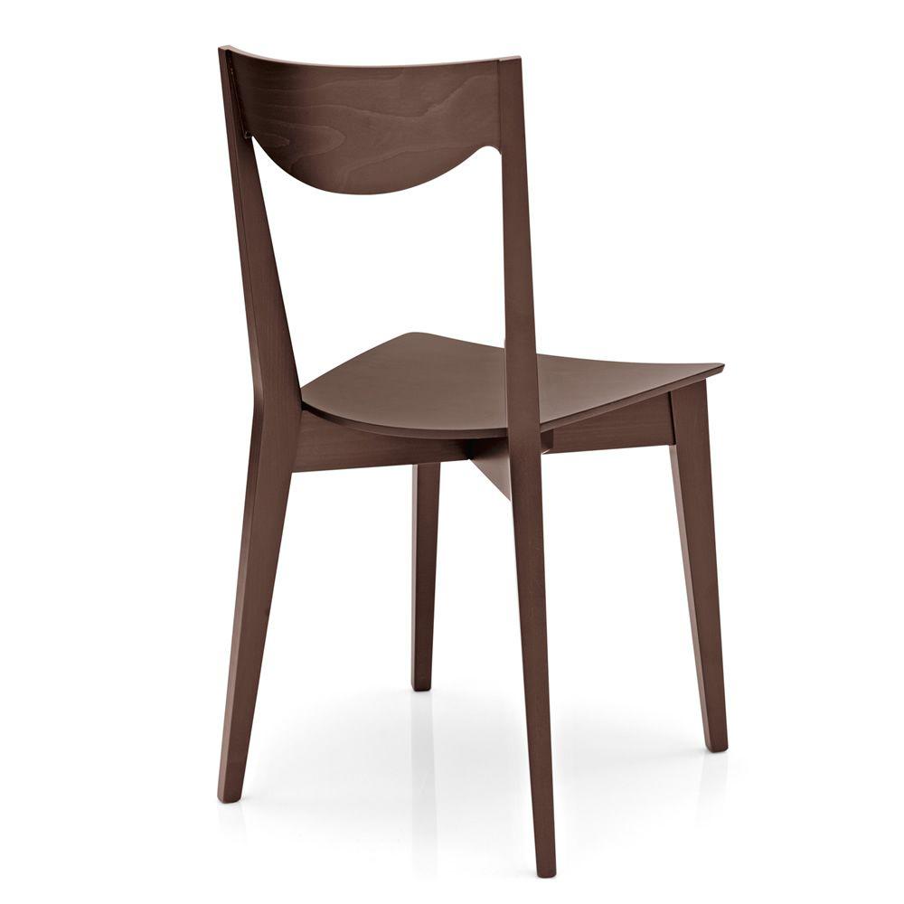 408 sedia in legno con seduta in multistrato tinta weng