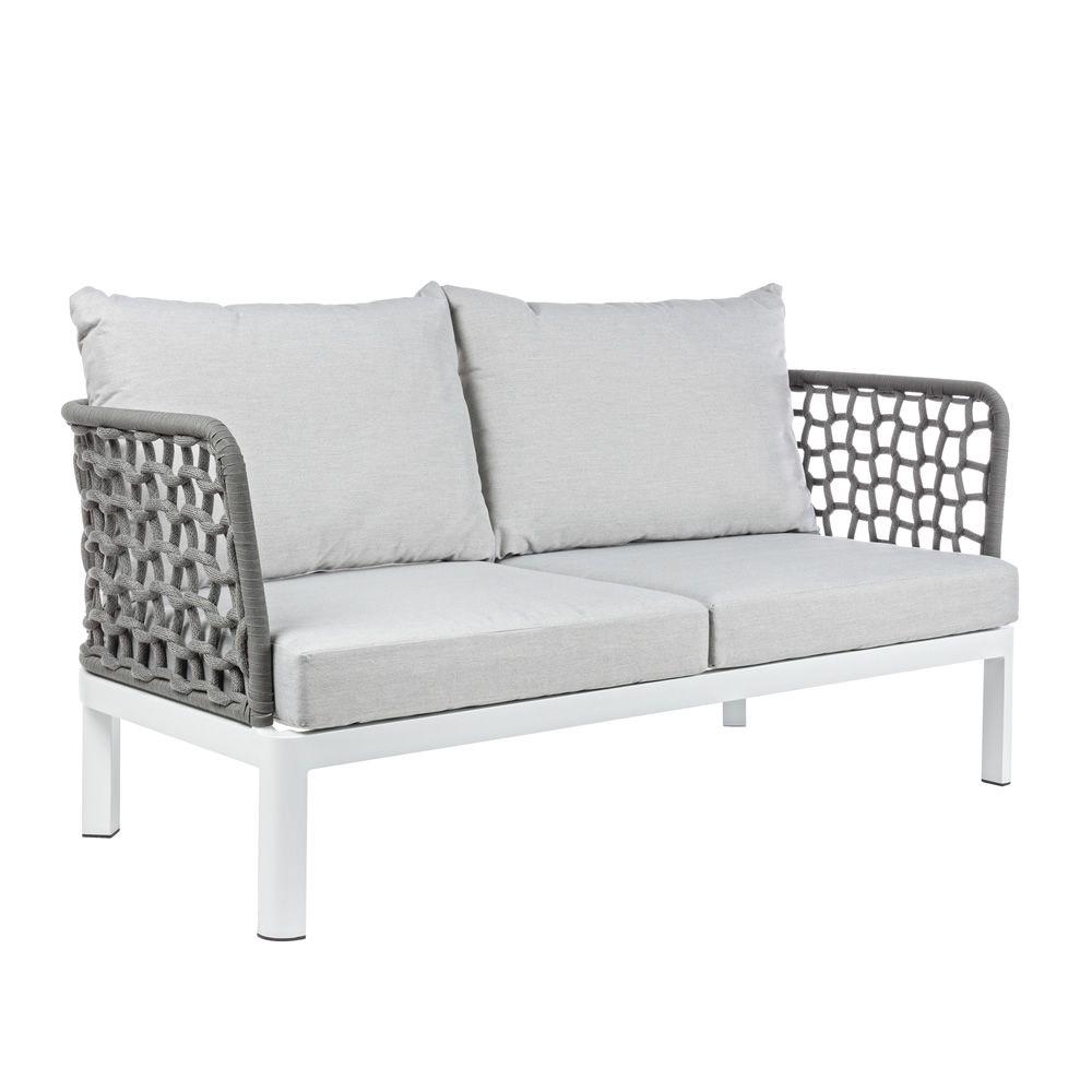 Zante d divano da giardino in alluminio con corde - Divano giardino ...