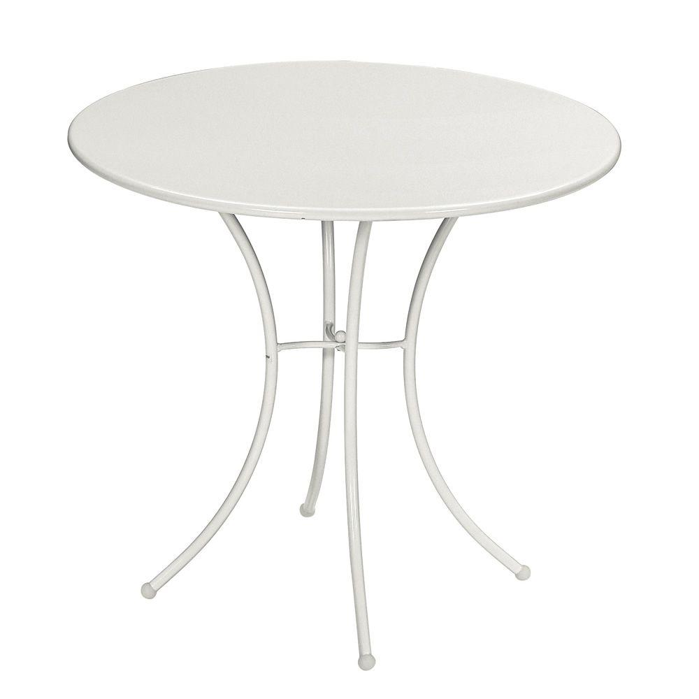 Pigalle table emu en m tal pour jardin plan de travail for Table ronde design diametre 80 cm