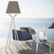 Cleo Alu LT - Outdoor lamp, with aluminium frame, several colours available