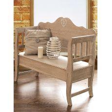 Augusta - Panca in legno con seduta a ribalta, in diversi colori