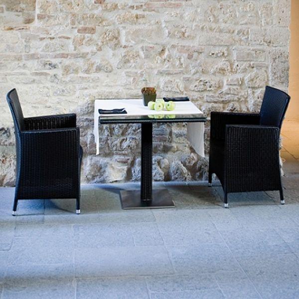 Ibiza St Sg Pour Bars Et Restaurants Set Table Haute Avec 2 Tabourets En Rotin Synth Tique