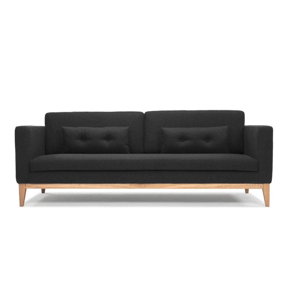 day sofa mit gestell und beine aus holz gepolstert und mit stoff bezogen. Black Bedroom Furniture Sets. Home Design Ideas