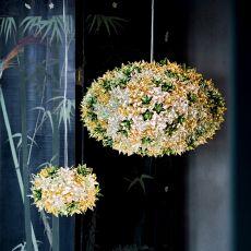 Bloom O - Lampe à suspension Kartell en technopolymère, en différentes couleurs et dimensions