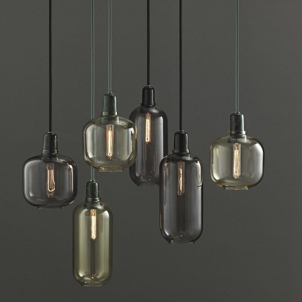 Amp - Lampada a sospensione Normann Copenhagen in vetro e marmo ...