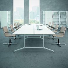 Office X2 Meet XL - Tavolo per sala riunioni o grande scrivania, in metallo e laminato, disponibile in diverse dimensioni e finiture