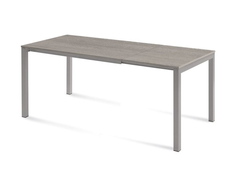 Web 120 domitalia metal table melamine or glass top 120 for Table 120 extensible
