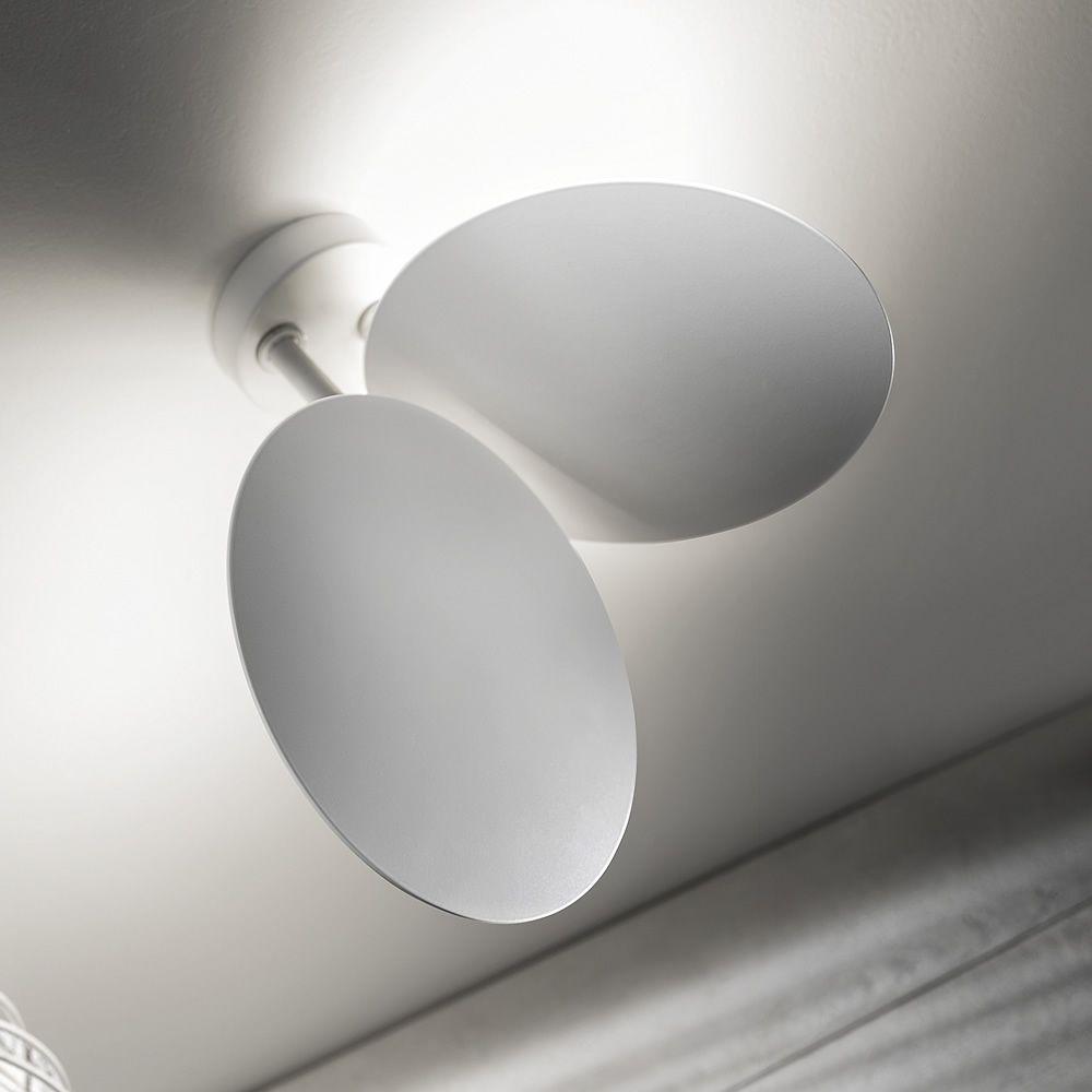 Puzzle Round. Lampada a soffitto, due dischi orientabili