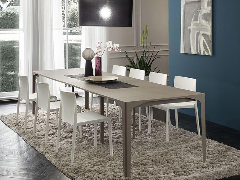 Pa128 tavolo consolle allungabile in metallo piano for Consolle metallo