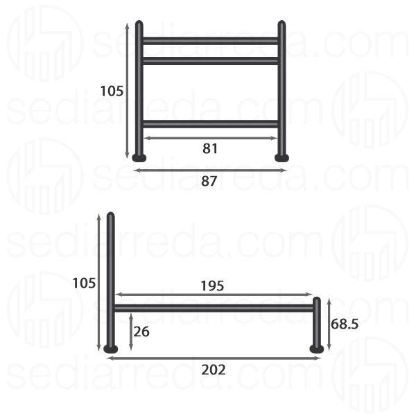 Vienna cama individual de hierro disponible en varios for Medidas para cama individual