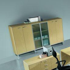 Archivio 02 - Mobile di archiviazione, impiallacciatura di legno, disponibile in diverse dimensioni e finiture