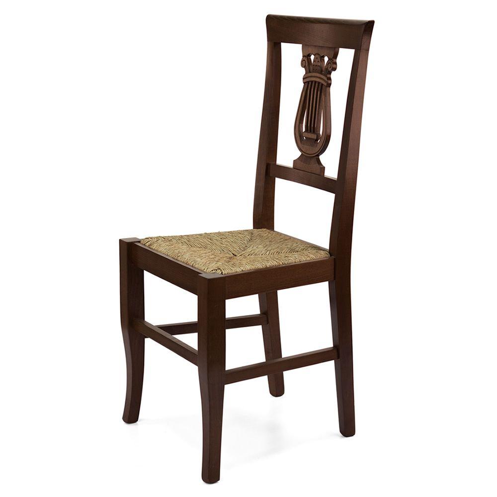 Mu81 bis pour bars et restaurants chaise rustique en for Chaise rustique bois et paille