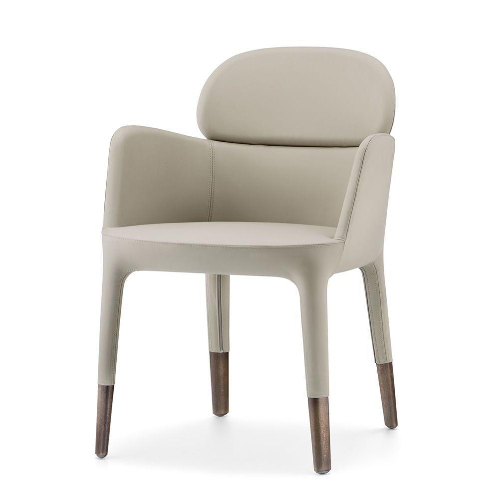 ester 690 moderner sessel pedrali aus aluminium mit leder oder kunstleder bezogen sediarreda. Black Bedroom Furniture Sets. Home Design Ideas