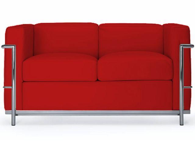 Ml160 2p divano a due posti in pelle o ecopelle for Divano rosso abbinamenti