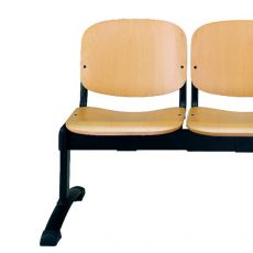 ML100 Panca W - Bench for waiting room with seats in wood, different number of seats