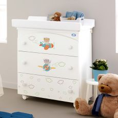 Aviatore F - Pali changing table-baby bath, with 3 drawers