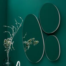 Drop - Round mirror composition, available also with LED light