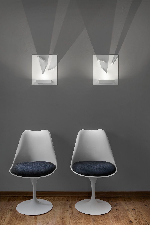 Domino lampada a parete di design con elementi orientabili in metallo con luce led sediarreda - Lampade da parete design ...