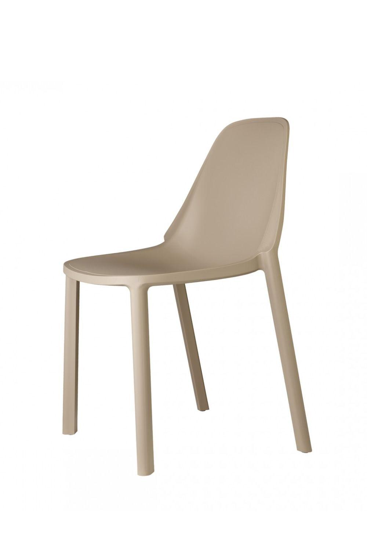 Pi 2336 sedia in tecnopolimero di vari colori for Sedie design tortora