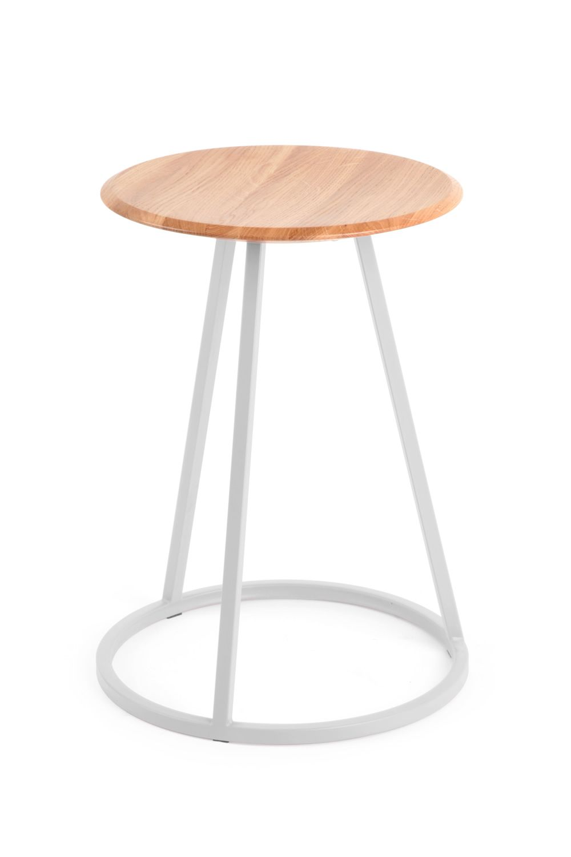 petit gustave tabouret en m tal et bois hauteur assise 45 cm sediarreda. Black Bedroom Furniture Sets. Home Design Ideas
