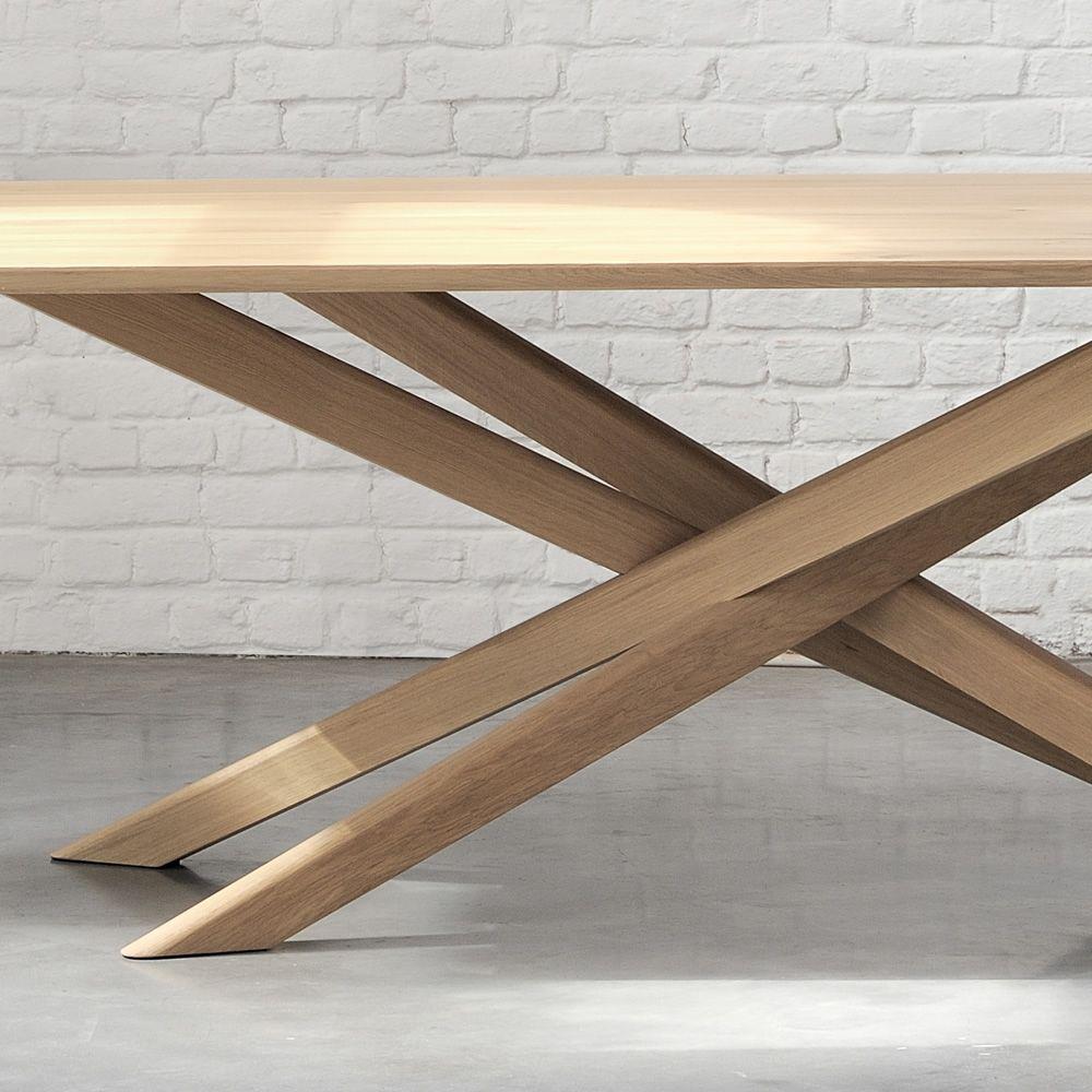 Mikado tavolo fisso di design ethnicraft in legno for Tavolo in legno design