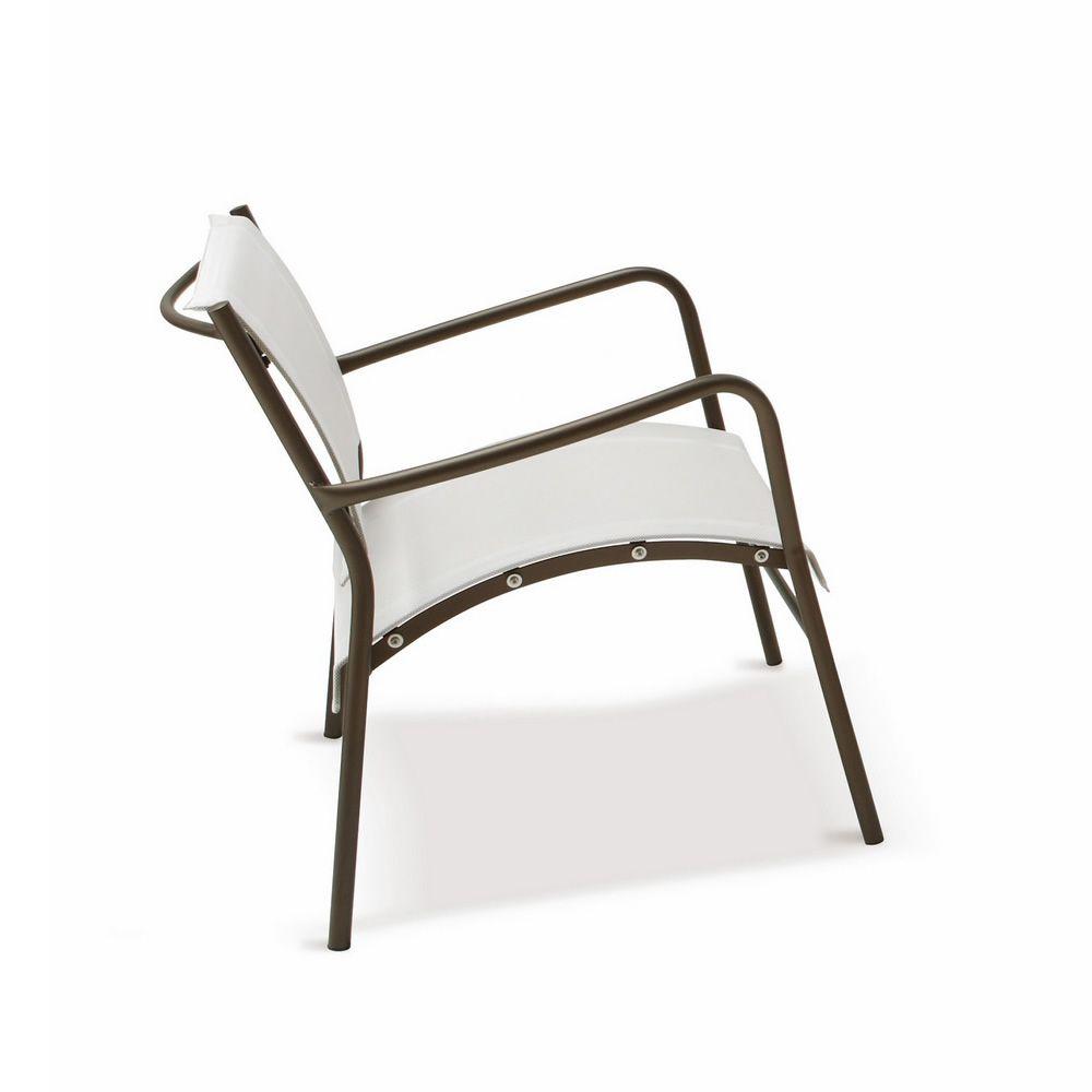 rig42po fauteuil de jardin en m tal et textil ne empilable disponible en diff rentes couleurs. Black Bedroom Furniture Sets. Home Design Ideas