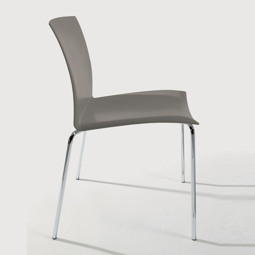 Futura off sedia impilabile bontempi casa in metallo e polipropilene sediarreda - Sedia polipropilene impilabile ...