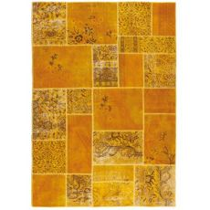 Antalya Yellow - Tapis moderne en pure laine vierge