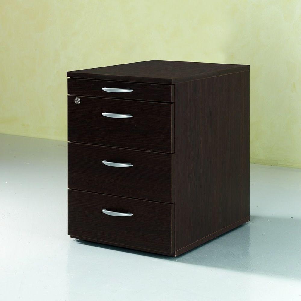 Cassettiera Wood 2 - Cassettiera per ufficio in laminato, dotata ...