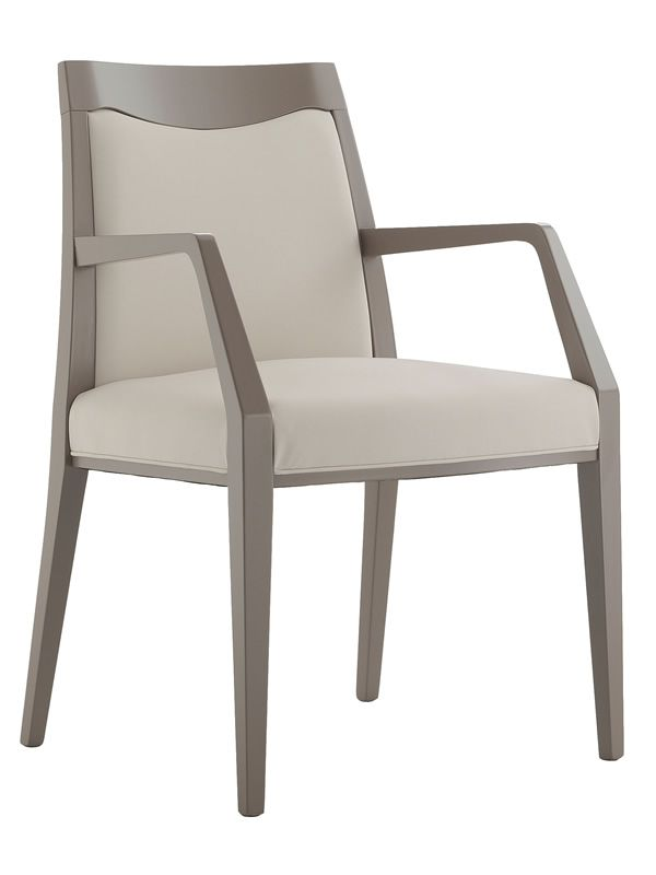 Mu p for bars and restaurants modern armchair in wood
