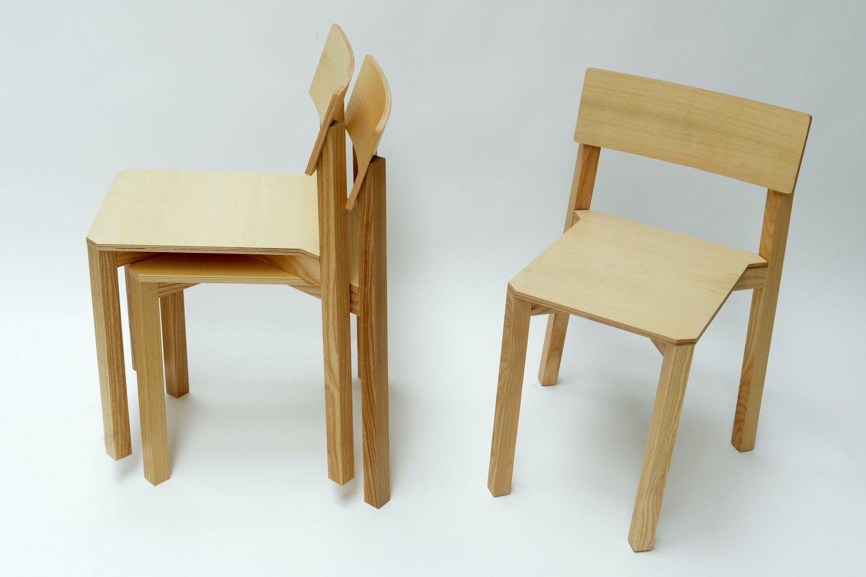 Simple one chaise empilable valsecchi en bois de fr ne for Chaise simple