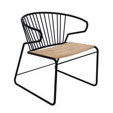 Gabbia - Poltroncina Universo Positivo in metallo con seduta in legno