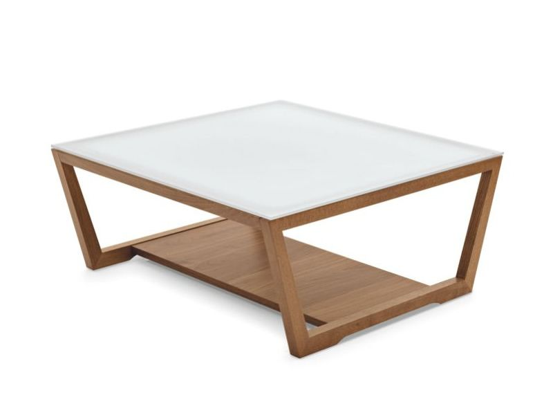 Cb5043 element table basse connubia calligaris en bois - Table basse avec plateau en verre ...