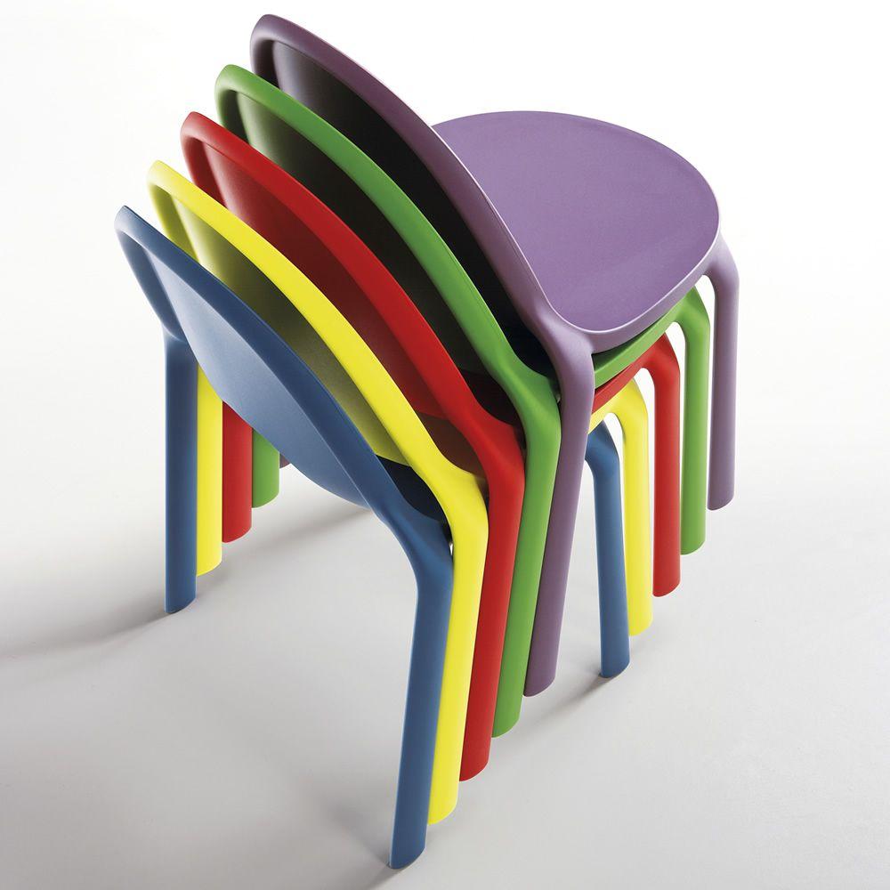Drop sedia infiniti in polipropilene impilabile for Sedie impilabili plastica
