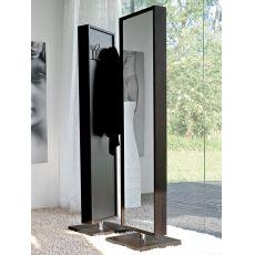 6468 | Specchio orientabile di Tonin Casa, cornice in legno, 175x42cm