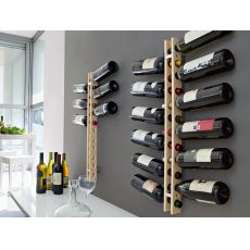 CB5052 Arsenal - Connubia - Calligaris bottle carrier made of wood, wall-mounted
