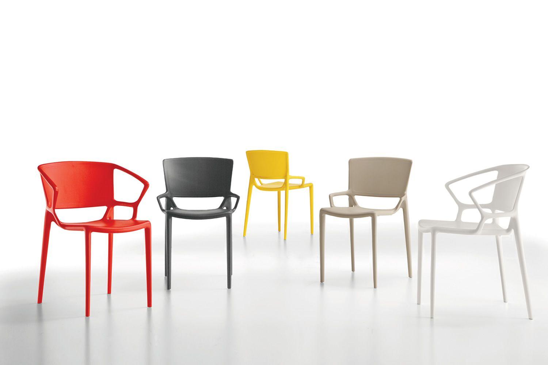 Fiorellina per bar e ristoranti sedia impilabile in for Sedie per esterno
